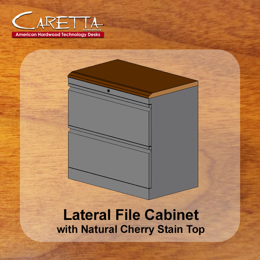 The 30u201d Lateral File Cabinet With Premium Wood Top Is A Commercial Grade,  Locking, Steel, Two Drawer File Cabinet That Is Fitted With A Cherry Wood  Top.