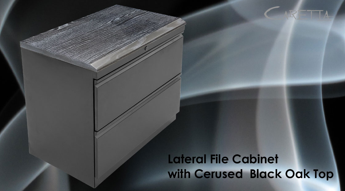 Black File Cabinet Top