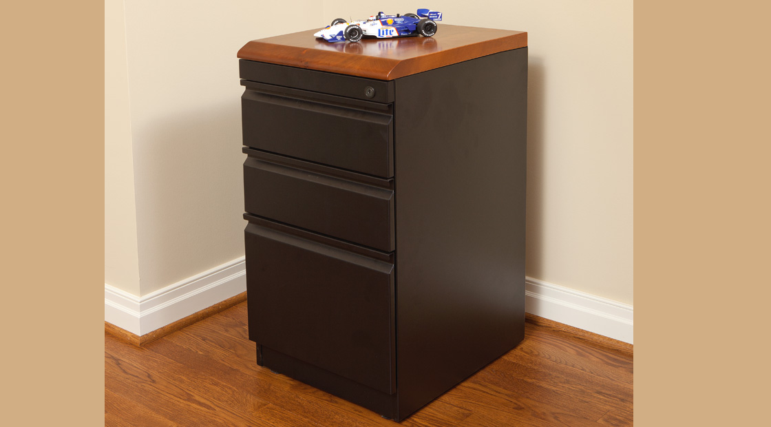 File cabinets with premium wood tops