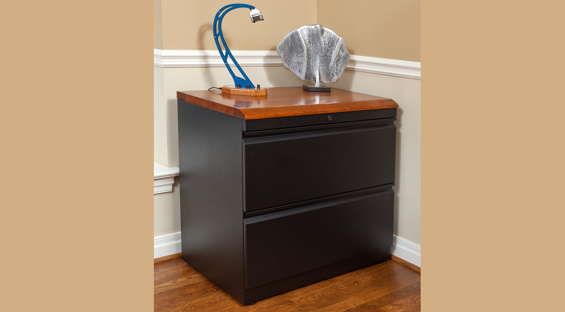 Lateral File Cabinet Table