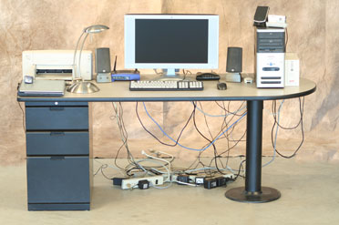 Desk Cable Management Desk Power Strip Hides Computer