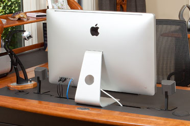 Cable management for iMac Computer