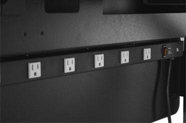 Drop Front Desk >> Desk Cable Management | Desk Power Strip | Hides Computer ...
